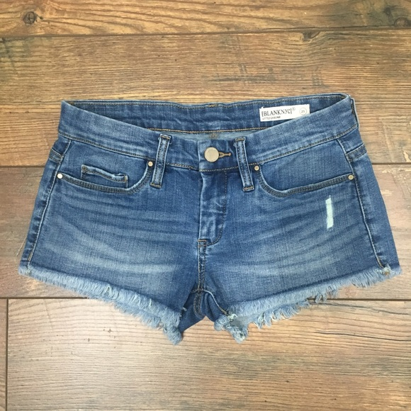 6ef2ce3f80 Blank NYC Pants - BLANK NYC Little Queenie Distressed Denim Shorts